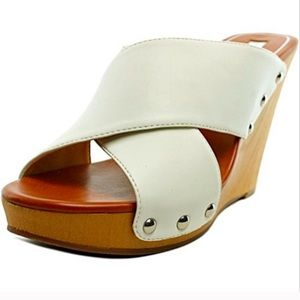 Shoes - Jessica Simpson Sandals White Jozie Wedge